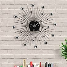 out of the blue reloj de pared metlico diseo estrella de cristales