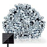 GDEALER LED Solar Lichterkette Weihnachten Decoration 22m 200 LED 8 Modes Wasserdicht für Outdoor Party, Haus Dekoration, Hochzeit, Weihnachten, Feier Festakt (Weiß)