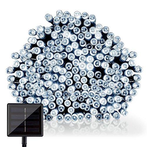 GDEALER LED Solar Lichterkette Weihnachten Decoration 22m 200 LED 2 Modes Wasserdicht für Outdoor Party, Haus Dekoration, Hochzeit, Weihnachten, Feier Festakt (Weiß)