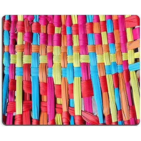luxlady Gaming Mousepad imagen ID: 30984749tejido ratán coloridos patrones