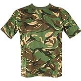Mens Camo Military/Army T-shirt 100% Cotton (Large, DPM Camo)