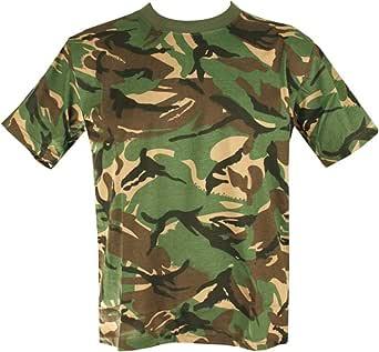 Mens Camo Military/Army T-shirt 100% Cotton (Small, DPM Camo)