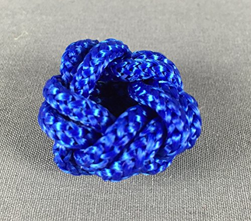 Makrameeknoten blau für Halstuch