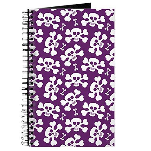 (CafePress–Halloween Totenkopf Muster–Spiralbindung Journal Notebook, persönliches Tagebuch, Aufgabe Tagebuch)