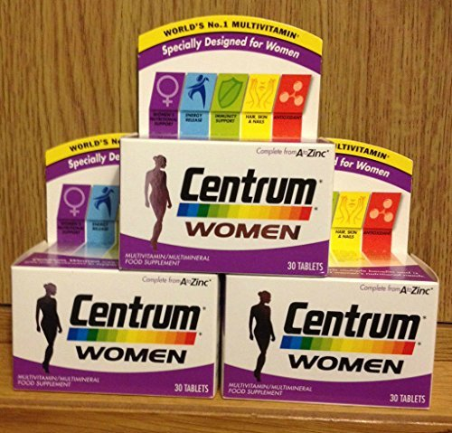 3 Packs Of Centrum Women 30 tablets. TOTAL 90 Tablets -