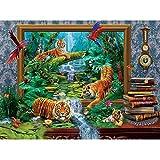 MAIYOUWENG Puzzle 1000 Pezzi - Jigsaw Puzzle per Adulti E Bambini - Fantasia Tigre Cornice per Foto Un Regalo di Compleanno Perfetto