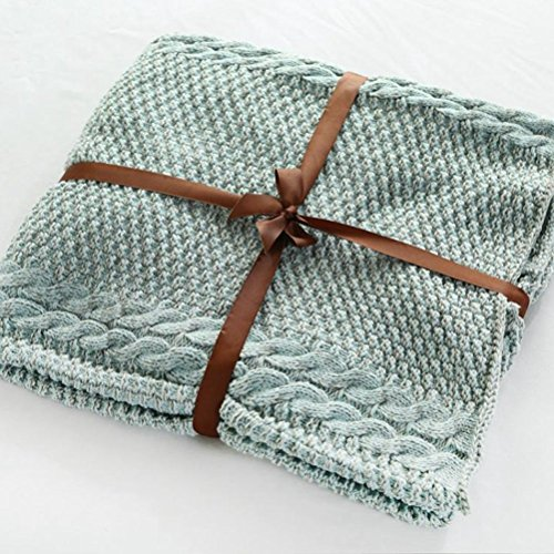 H&S Decke Schwanz Decke Single Cover Decke Napping Sofa Blanket (Farbe: Grün, Größe: 60 x 140 cm)