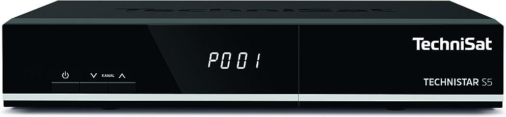 TechniSat TECHNISTAR S5 HD Sat-Receiver mit Single-Tuner für Empfang in HD, UPnP-Livestreaming, Ethernet, PVR- und Timeshift-Funktion, schwarz