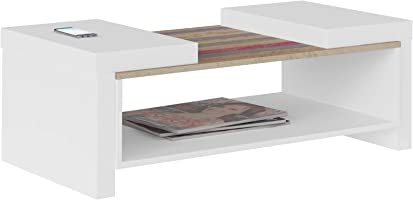 Artely Veneza Coffee Table, White/Antique, 36.5 cm x 100.5 cm x 59 cm