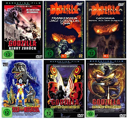 DIE GODZILLA BOX - Monster Collection Fan Editon ( 6 Godzilla Klassiker ) [6 DVDs]