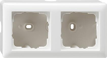 Gira 006203 Aufputz-Gehäuse mit Rahmen 2-fach Reinweiß glänzend
