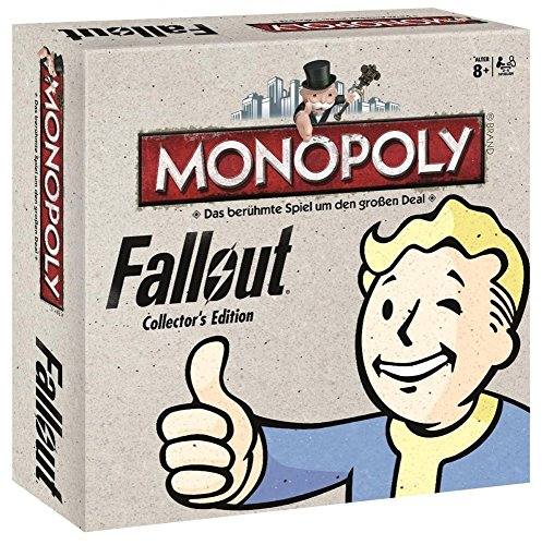 Monopoly - Limitierte Fallout Collector's Edition - 6 Sammler Spielfiguren | Gesellschaftsspiel | Brettspiel Deutsch