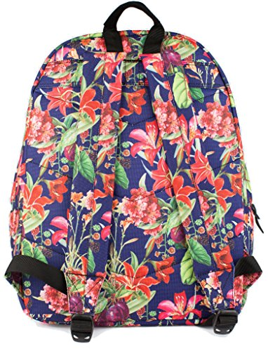 Hype Vida Camo Rucksack (Green/Pink) Grape Vine
