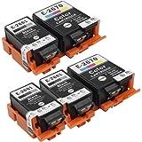 Inkwayw de remplacement epson 266 T2661 T2670 cartouche d'encre avec de l'encre pigmentée (3 Noir, 2 Couleur) - Lot de 5 pour