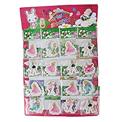 Aarvi Barbie Pencil Eraser Birthday Return Gift for Kids (Pack of 16 Pcs)