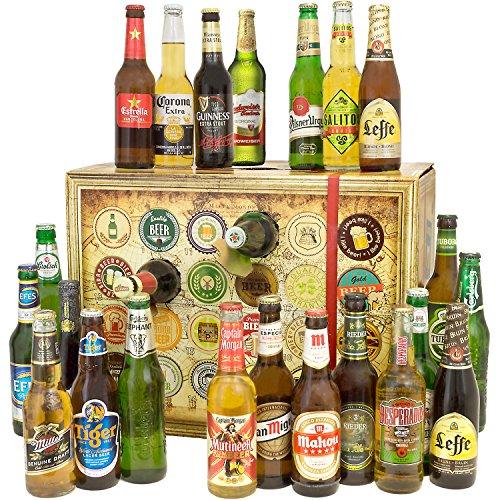 bier adventskalender 24 biere aus aller welt inkl geschenkbox 24 x l ean. Black Bedroom Furniture Sets. Home Design Ideas
