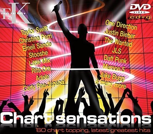 Karaoke Chart Sensations! CDG/DVD Disc Set by Easy Karaoke - 60 Chart Topping Hits including Taylor Swift; One Direction; Rita Ora and Many More! Also Includes Free