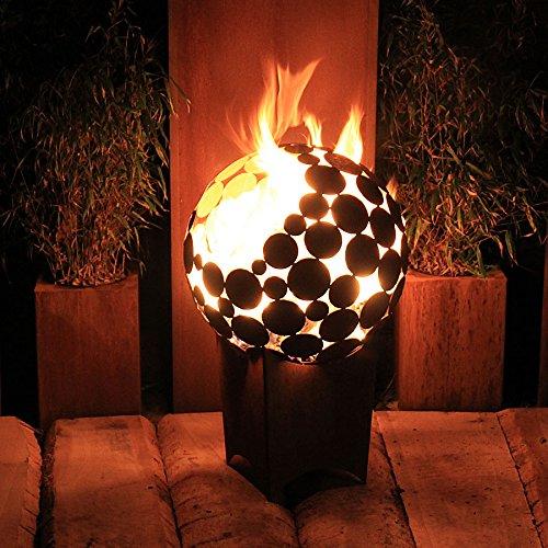 Feuerstelle Kugel d=55 cm mit tiefem Sockel