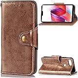 Oppo R15 Case,Oppo R15 Case,Pouches Premium PU Leather Wallet Snap Case Pouches Pouches Flip Case Compatible With Oppo R15 Golden