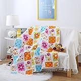 """Ustide - Trapunta reversibile per lettino da bambini, in cotone; 110x 130cm; motivo: treno, Cotone, Sunflower, 43""""x51"""""""
