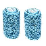 YA-Uzeun, 2 panni di ricambio in microfibra lavabili, per la pulizia della casa Blue