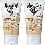 Le Petit Marseillais - Crème Mains Réparatrice Peaux Abimées et Desséchées - Tube 75 ml - Lot de 2