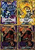 LEGO Nexo Knights Serie 1+2 - 4 limitierte Gold Karten Trading Cards NEU LE3 Mächtiger Lance, LE4 General Magmar, LE16 Mächtiger Geröllgroll