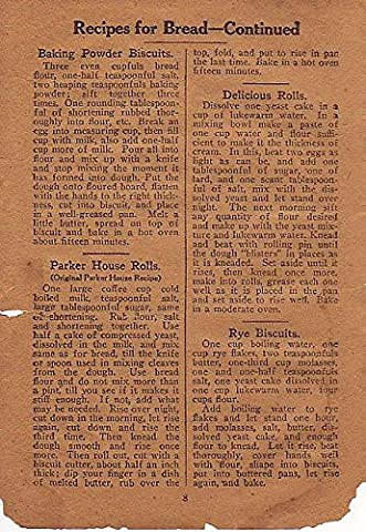 POSTER Good Bread recipe book W. J. Malley Deseronto druggist. Vinol cod-liver oil remedy. recipes Baking Powder Biscuits Parker House Rolls Delicious Rolls Rye Biscuits. Deseronto eastern Ontario Canada Wall Art Print A3 replica