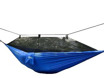 nylon   reversible durable  pact  u0026 lightweight camping hammock   length 325cm bed length 275cm bed width 140cm  blue   amazon co uk  kitchen  u0026 home krazy outdoors mosquito   hammock   extra strong parachute nylon      rh   amazon co uk