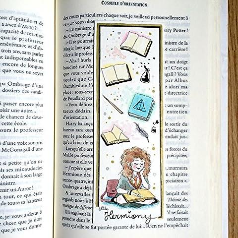 Marque page illustré - Hermione - Harry Potter