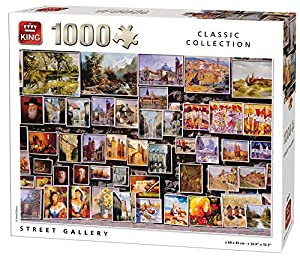 King Classic Collection Street Gallery 1000 pcs Puzzle - Rompecabezas (Puzzle Rompecabezas, Arte, Adultos, Hombre/Mujer, 8 año(s), Cartón)