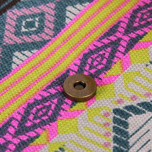 Amazingdeal365 Colore Nuove Donne Busta Frizione Borsa Tote Bag Signore Ricamato (Rosa Rossa) Verde