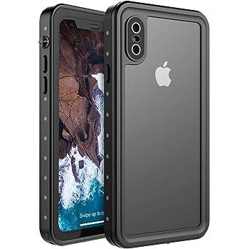 """BasicStock Custodia Impermeabile iPhone XS Max, [IP68 Certificato] Protettivo Waterproof Cover Case Impermeabile con Toccare Responsive/Pellicola Protettiva per iPhone XS Max 6.5"""" 2018 (Nero 2)"""