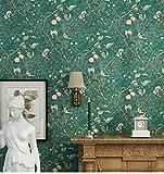 JLRQY Tapete Vintage Ländliche Vlies Apfelbaum Muster Tapeten Für Schlafzimmer Wohnzimmer Hintergrund Wandaufkleber 0,53X10 Mt,C