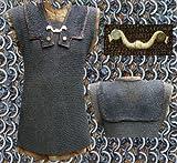 Mittelalterliches Kettenhemd RM Lorica Hamata, ID6mm, vernietet und gestanzt LARP Mittelalter Schaukampftauglich Größe M-XL