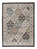 """Grand Tapis d'Orient - BEIGE TURQUOISE CRÈME - Motif Persan Traditionnel et Oriental - Tapis de Salon Ultra Doux - """" AYLA """" - 140 x 200 cm..."""