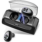 Écouteurs Bluetooth Sport, Oreillette Bluetooth V5.0 avec 2600mAh Etui de Charge, 80 Heures Automatique, IPX56 étanche, CVC 8.0 Réduction du Bruit Écouteur sans Fil pour Course/Gym/Jogging