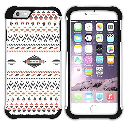Graphic4You COLORFUL TRIBAL Muster Hart + Weiche Kratzfeste Hülle Case Schale Tasche Schutzhülle für Apple iPhone 6 Plus / 6S Plus Design #2