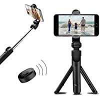 AUGEN by VisionsIndia Mobile Stand with Selfie Stick and Tripod XT-02 Aluminium Alloy Bluetooth Remote Control Selfie…