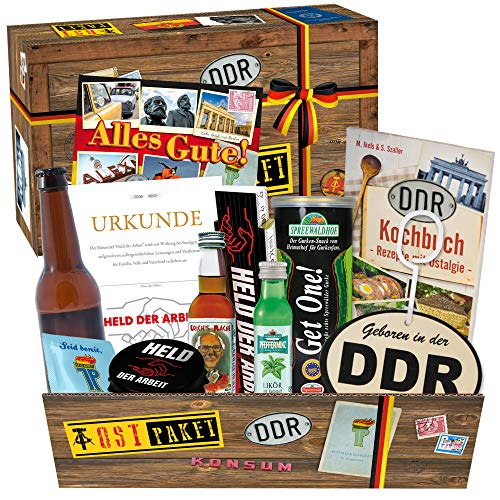 Geschenksets DDR mit verschiedenen Ostprodukten in Süßigkeitenboxen & Spezialitätenboxen +++ Produkte aus der ehemaligen DDR – nostalgisch und traditionell +++ inklusive Geschenkverpackung mit tollen Ostmotiven