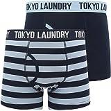 Tokyo Laundry 2 Pack Boxed Mens Plain & Stripe Boxer Shorts 'Nicholson'