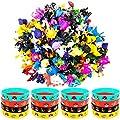 OMZGXGOD - 48 Piezas Pokemon Pikachu Monstruo Mini Figuras + 16 Pulseras de Silicona de OMG