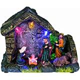 Iden Berlin 10030265 Crèche de Noël à LED en bois env. 14 x 12 x 6 cm
