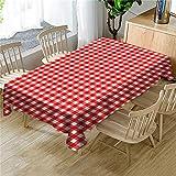 QWEASDZX Tischdeckengitter Im ländlichen Stil Verbrühungsschutz Ölbeständig Antifouling Mehrzwecktischdecke Quadratische Tischdecke Geeignet für Innen- und Außenbereich 140x140cm