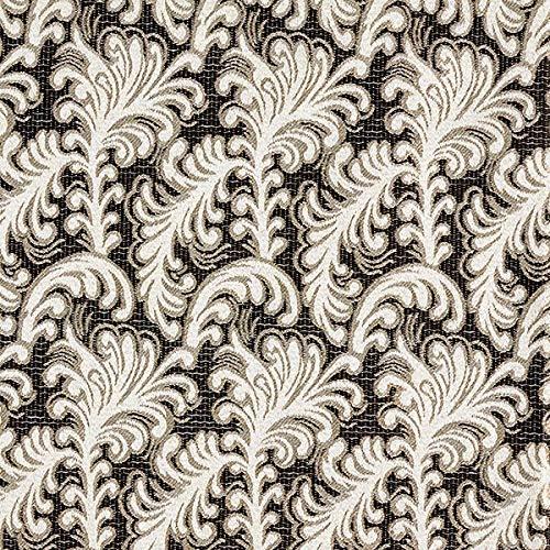 Fabulous Fabrics Jacquard Blumenornament – schwarz — Meterware ab 0,5m — zum Nähen von Karneval, Kostüme und Blazer
