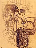 Das Museum Outlet–Studie für die Waschmaschine von Lautrec–Leinwand Print Online kaufen (101,6x 127cm)