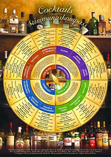 Cocktails Stimmungskompass für die Wand (DIN-A2 2017) – Welcher Cocktail soll es sein? Entscheiden Sie nach Stimmung, Anlass und Geschmack Für ... und für Ihre Hausbar und Cocktailparty