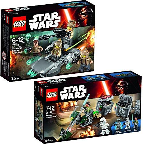 Lego Star Wars 2er Set 75131 75141 Resistance Trooper Battle Pack + Kanan's Speeder Bike (Star Wars Kanan Lego)