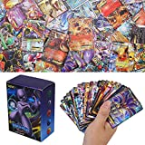100 Pezzi Pokemon Carte, Pokemon Carta Iniziale, Sun & Mood Series 20th Anniversario Carte GX Carte Mega Energy Trainer Carte (80GX + 5Mega + 15Trainer)
