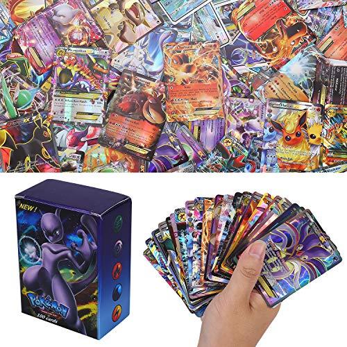 Colfeel 100 Stücke Pokemon Sack Karten XY Series EX Karten MEGA Karten (80EX + 20Mega)